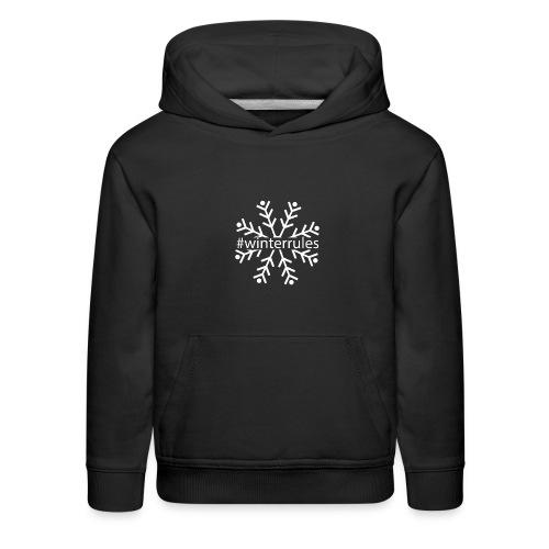 Winter Rules Snowflake - Kids' Premium Hoodie