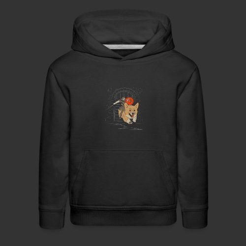A Corgi Knight charges into battle - Kids' Premium Hoodie