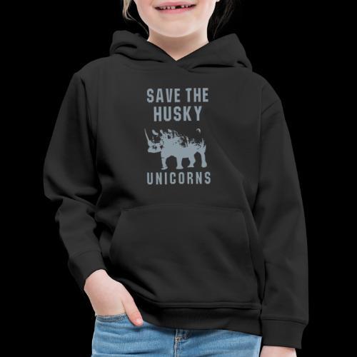 Save the Husky Unicorns | Funny Rhino - Kids' Premium Hoodie