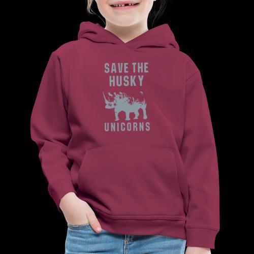 Save the Husky Unicorns   Funny Rhino - Kids' Premium Hoodie