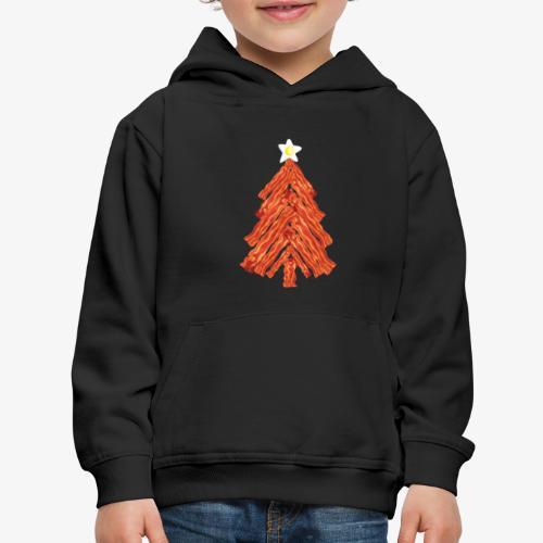 Funny Bacon and Egg Christmas Tree - Kids' Premium Hoodie