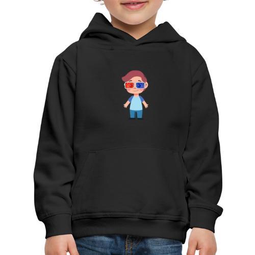 Boy with eye 3D glasses - Kids' Premium Hoodie