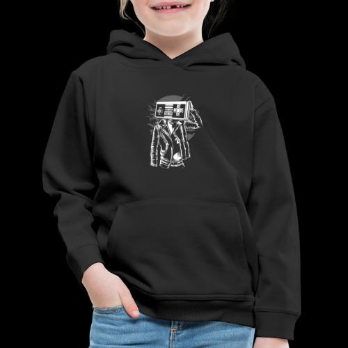 Retro Gamer Head - Kids' Premium Hoodie