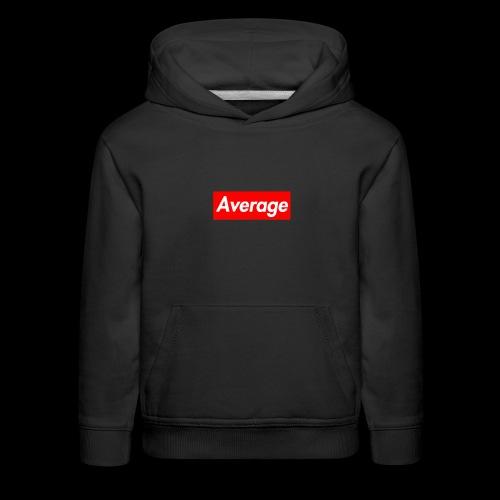 Average Supreme Logo Mockup - Kids' Premium Hoodie