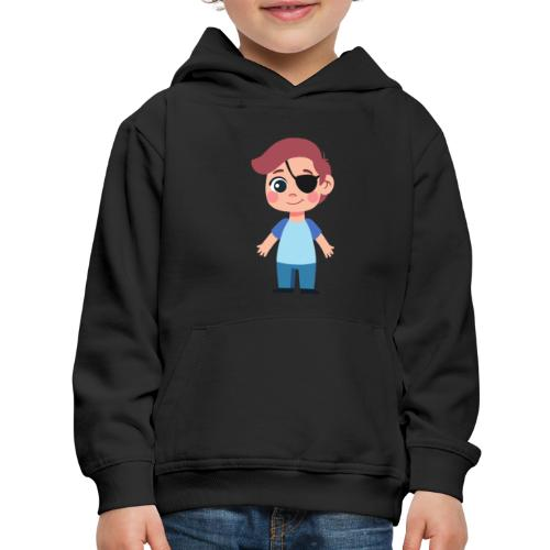 Boy with eye patch - Kids' Premium Hoodie