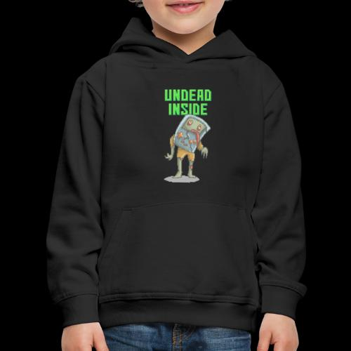 Zombie Video Game | Funny Zombie Pizelart - Kids' Premium Hoodie