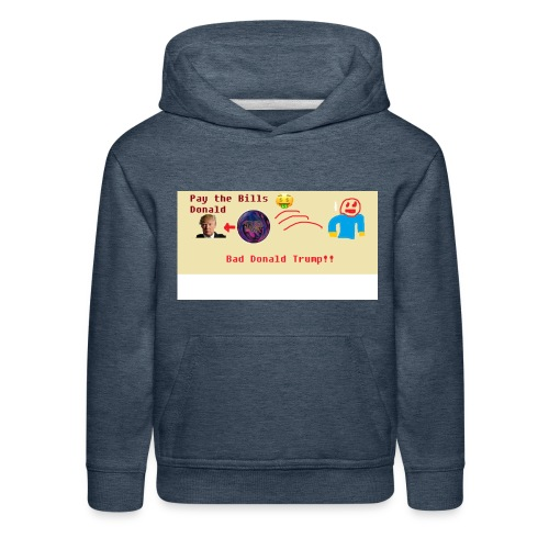 donald trump gets hit with a ball - Kids' Premium Hoodie