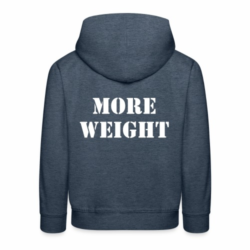 """More weight"" Quote by Giles Corey in 1692. - Kids' Premium Hoodie"