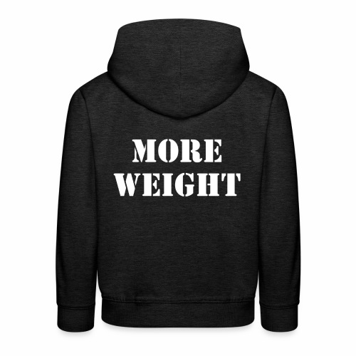 """""""More weight"""" Quote by Giles Corey in 1692. - Kids' Premium Hoodie"""