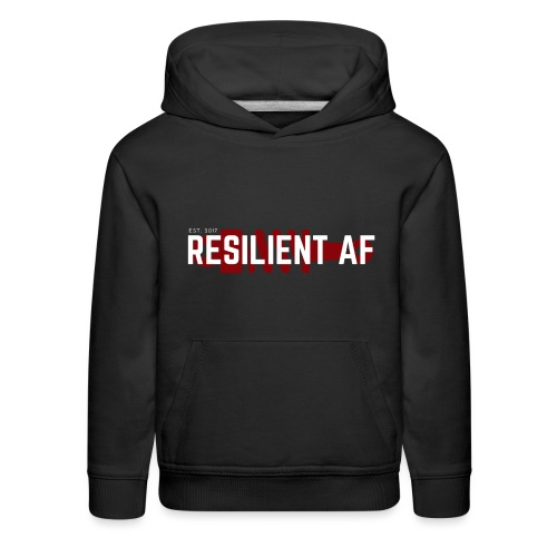 RESILIENT WHITE with red - Kids' Premium Hoodie