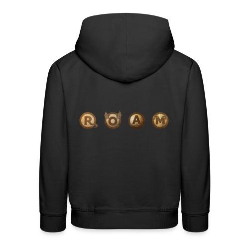 ROAM letters sepia - Kids' Premium Hoodie