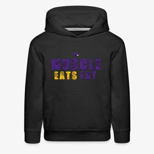 Muscle Eats Fat (Vikings Edition) - Kids' Premium Hoodie
