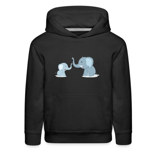 Father and Baby Son Elephant - Kids' Premium Hoodie