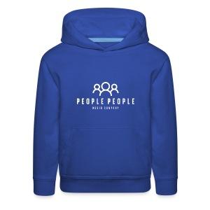 People People Media Co Logo White - Kids' Premium Hoodie