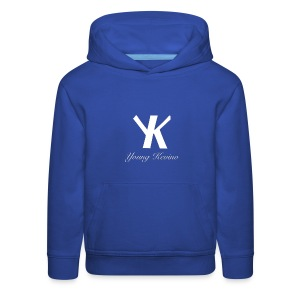 Young Kevino Official Logo (White) - Kids' Premium Hoodie