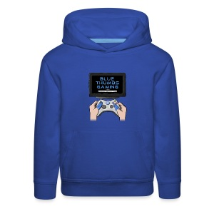 Blue Thumbs Gaming: Gamepad Logo - Kids' Premium Hoodie