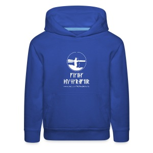 The Viking Bushcrafter Logo With Runes - Kids' Premium Hoodie