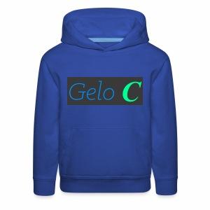 GeloC Rectangle Gray Logo - Kids' Premium Hoodie