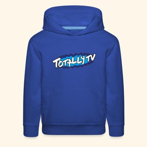 Totally TV Burst Logo Blue on Blue - Kids' Premium Hoodie