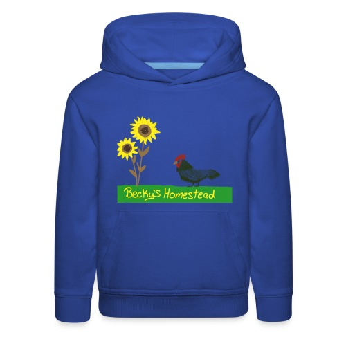 Chicken and Sunflowers - Kids' Premium Hoodie