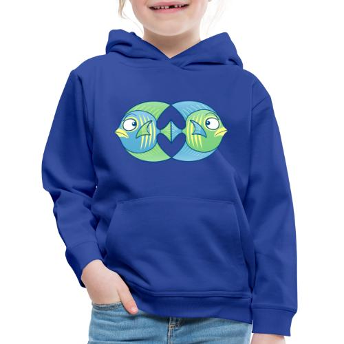 Tropical fishes remain in love despite conflicts - Kids' Premium Hoodie