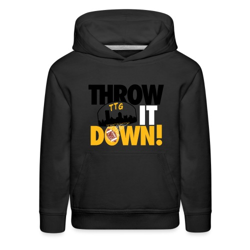 Throw it Down! (Turnover Dunk) - Kids' Premium Hoodie