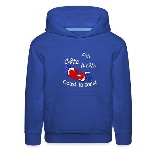 logo Côte à côte_blanc - Kids' Premium Hoodie