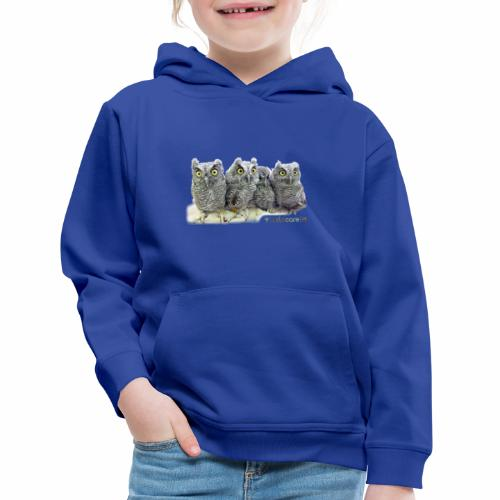 Five Western Screech Owls at WildCare - Kids' Premium Hoodie