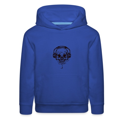 music skull head - Kids' Premium Hoodie