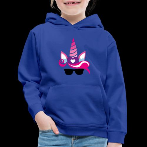 Unicorn with Style - Kids' Premium Hoodie
