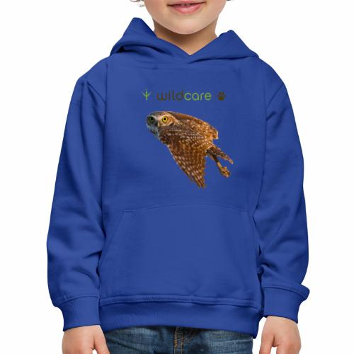 Burrowing Owl in Flight - Kids' Premium Hoodie