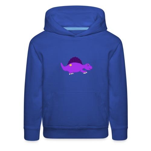 Cute Purple Stegosaurus - Kids' Premium Hoodie
