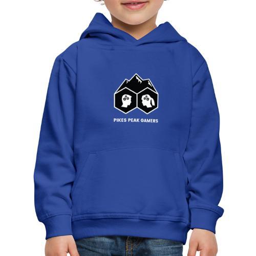Pikes Peak Gamers Logo (Solid Black) - Kids' Premium Hoodie