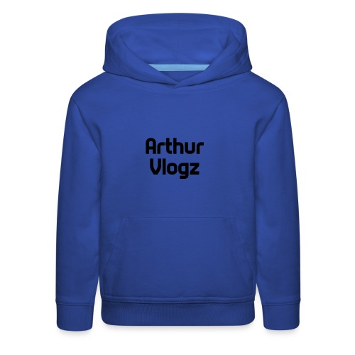 Answer Text Arthur Vlogz Colored Apperal - Kids' Premium Hoodie