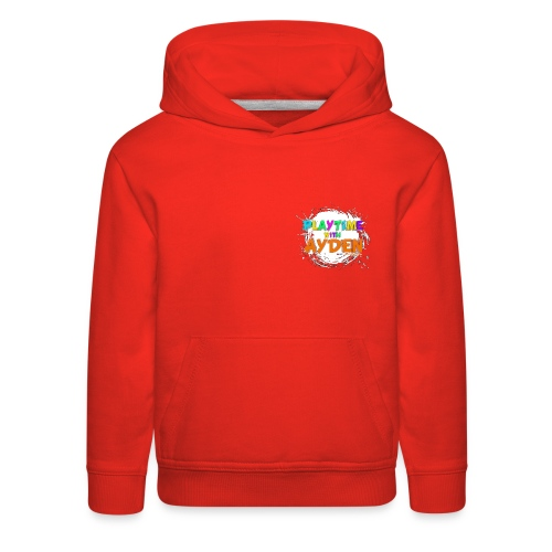 Playtime with Ayden - 1st edition - Red T-shirt - Kids' Premium Hoodie