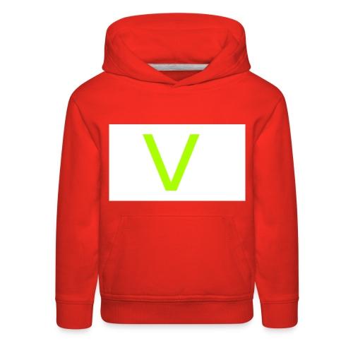 V letter for vast - Kids' Premium Hoodie