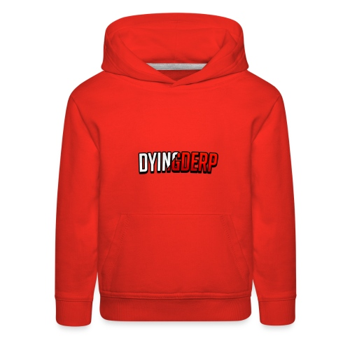 DyingDerp Offical Merch Text - Kids' Premium Hoodie