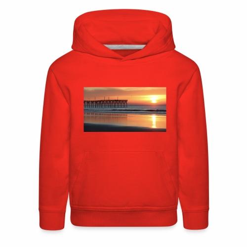 fall sunset on the beach - Kids' Premium Hoodie