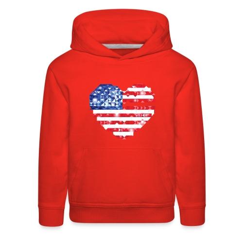 American Flag Heart Shirt - Kids' Premium Hoodie
