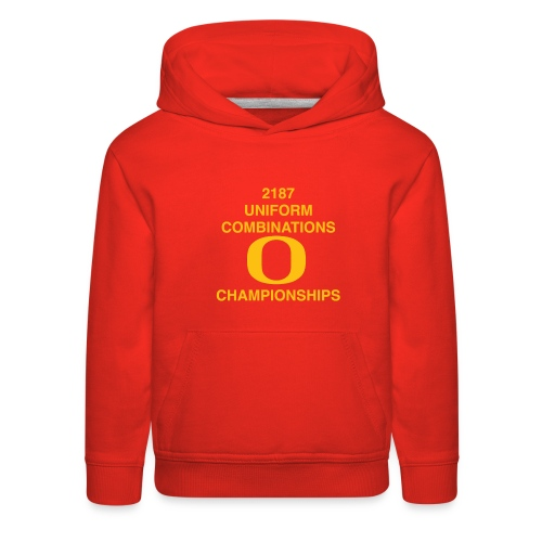 2187 UNIFORM COMBINATIONS O CHAMPIONSHIPS - Kids' Premium Hoodie