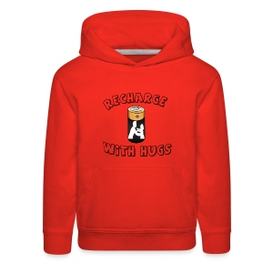 Recharge with hugs - Kids' Premium Hoodie
