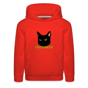 PunchTheEarth Cat with Text - Kids' Premium Hoodie
