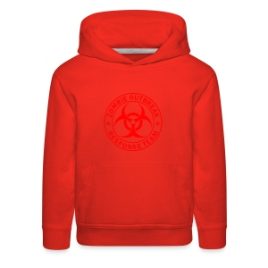 Zombie outbreak response unit red large - Kids' Premium Hoodie