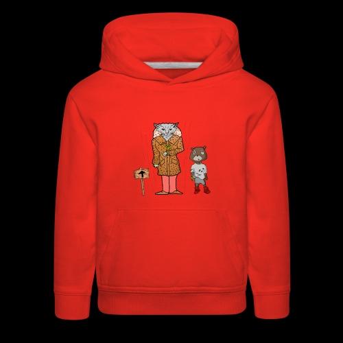 Tomkat Larry Only Pimps Tan Leather Ostrich Parka - Kids' Premium Hoodie