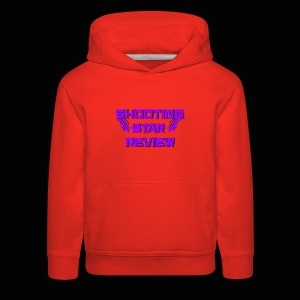 Shooting Star Review Purple Logo - Kids' Premium Hoodie