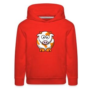 Orange Cow - Kids' Premium Hoodie