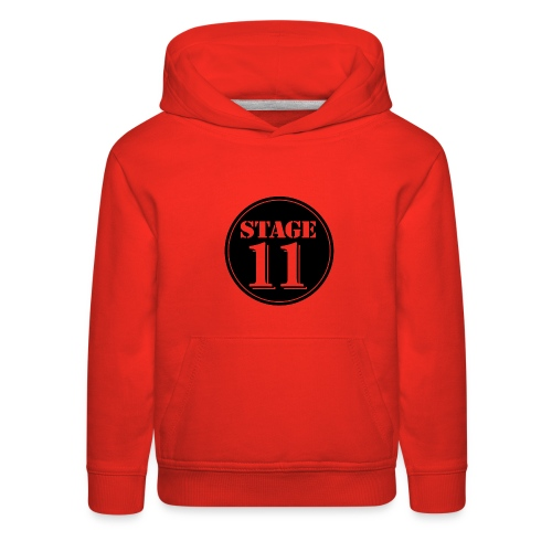 stage11 logo circle TRANSPARENT - Kids' Premium Hoodie