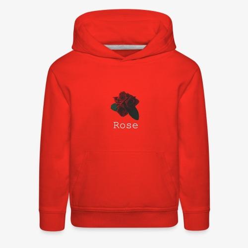 Rose [White] - Kids' Premium Hoodie