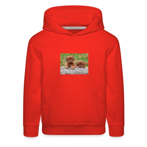 French Mastiff Puppies - Kids' Premium Hoodie