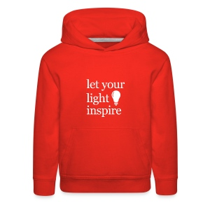 Let Your Light Inspire Tee (white font) - Kids' Premium Hoodie